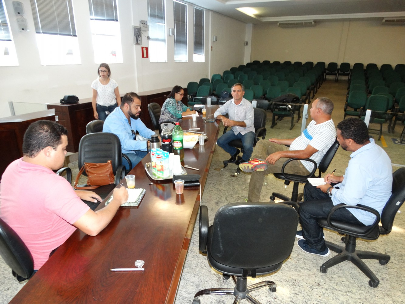 O encontro descontraído marcou o término da legislatura e serviu para que p presidente fizesse um balanço de sua gestão